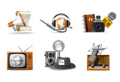 Journalism and press icons Royalty Free Stock Images