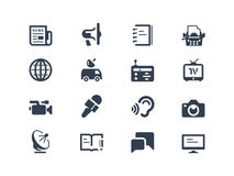 Journalism and press icons. Isolated on white Stock Images