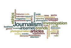 Journalism - Word Cloud. A Word Cloud of Web 2.0 Stock Photo