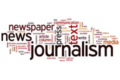 Journalism word cloud Royalty Free Stock Photo