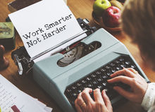 Journalism Working Typewriting Workspace Concept Stock Images