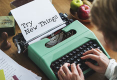 Journalism Working Typewriting Workspace Concept Stock Image