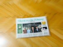 Journalisme international de journal de Suddeutsche Zeitung Photographie stock libre de droits
