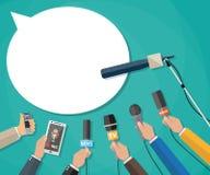 Journalismus, Livebericht, aktuelle Nachrichten Stockbilder