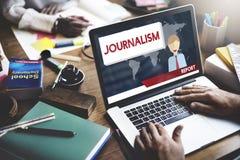 Journalismus-Nachrichten-Interview-Artikel-Inhalts-Konzept stockbild
