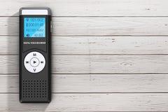 Journalist Digital Voice Recorder of Dictafoon het 3d teruggeven royalty-vrije illustratie