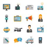 Journalist Icon Flat Stock Photo