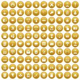 100 journalist icons set gold. 100 journalist icons set in gold circle isolated on white vectr illustration vector illustration