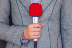 Journalist. Media reporting. Royalty Free Stock Photo