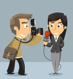 Journalist News Reporter Royalty Free Stock Photography