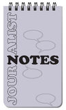 Journalist notes for work. Journalist notes, for notes on a spring. Vector illustration Royalty Free Stock Photography