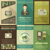 Journalist Poster Set Royalty Free Stock Images