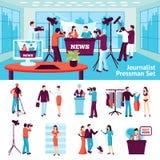 Journalist And Pressman Set Royalty Free Stock Photo