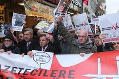Journalist Protest Arkivbilder