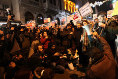 Journalist Protest Stock Photo
