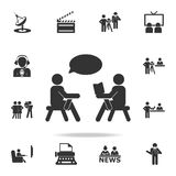 Journalist recorder icon. Detailed set icons of Media element icon. Premium quality graphic design. One of the collection icons fo stock illustration