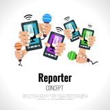 Journalist reporter concept Royalty Free Stock Image