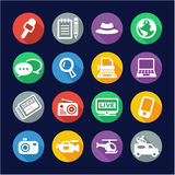 Journalist Or Reporter Icons Flat Design Circle Royalty Free Stock Photos