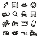 Journalist Or Reporter Icons Royalty Free Stock Images