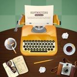 Journalist Vintage Typewriter Illustration Royalty Free Stock Photos