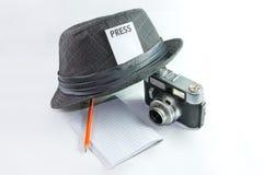 Journalista foto de stock