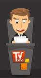 Journalista da âncora da notícia Fotos de Stock