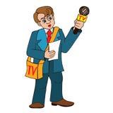 Journalistas profissionais ilustração royalty free