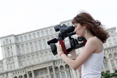 Journaliste image stock