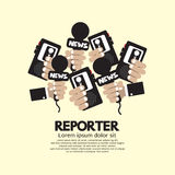 Journaliste Concept Photos libres de droits
