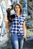 Journaliste de femme Photographie stock libre de droits
