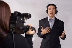 Journaliste de l'adolescence Photo libre de droits