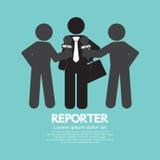 Journaliste noir de symbole Photographie stock