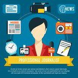 Journaliste professionnel Background Photographie stock