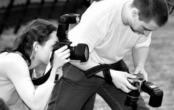 Journalistes photo libre de droits