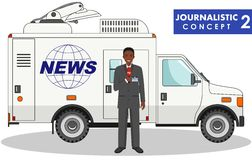 Journalistic concept.. Vector illustration. Stock Images