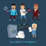 Journalistic Investigation Concept Vector Illustration Royalty Free Stock Photography