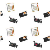 Journalistic tool audio visual pattern Stock Photos