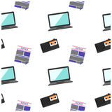 Journalistic tool modern news pattern Stock Image