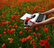 Journalistiek en het schrijven, de zomer stock foto's