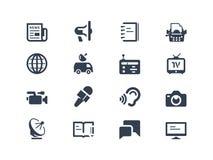 Journalistik- och presssymboler Arkivbilder