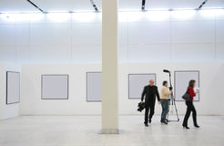 Journalists on exhibition Stock Images