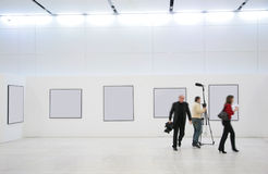 Journalists on exhibition stock image