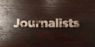 Journalists - grungy wooden headline on Maple  - 3D rendered royalty free stock image Royalty Free Stock Images