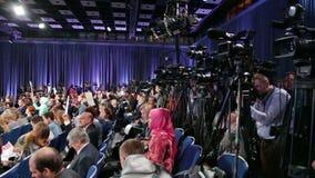 Journalists stock video