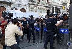 Journalists Protest in Istanbul Royalty Free Stock Photography