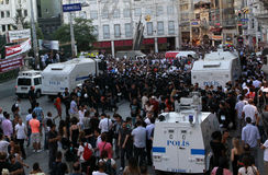 Journalists Protest in Istanbul Stock Photo