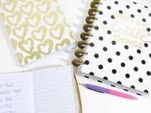 Journals on table Royalty Free Stock Photos