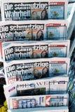 Journaux allemands Photos stock