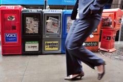 Journaux américains Photographie stock libre de droits