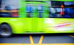 Journaux brouillés de bus Photos stock